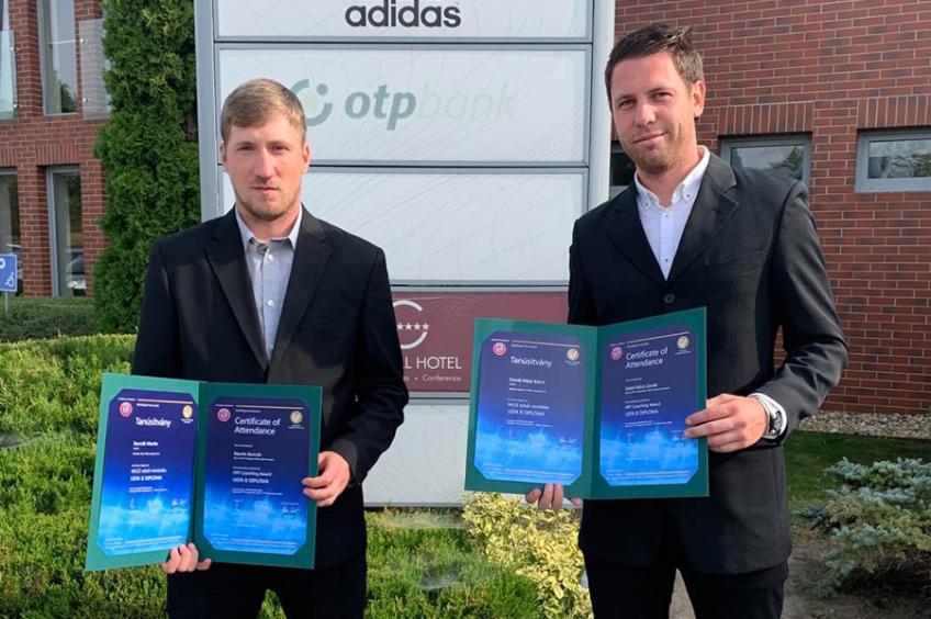 Újabb két edzőnk kapott UEFA B diplomát