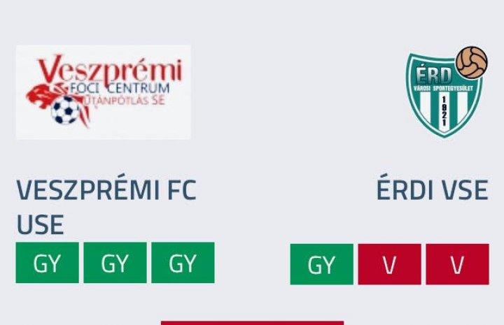 VFC USE U19 - Érd 16-0