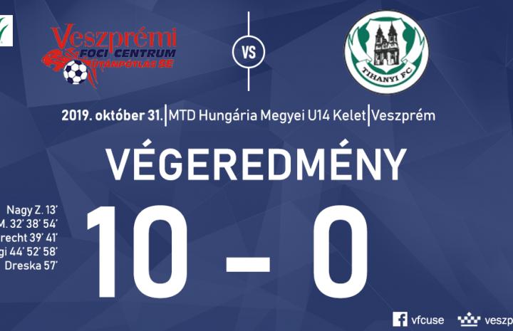 """10 gólt rúgott a Tihanynak az U14 """"A"""""""