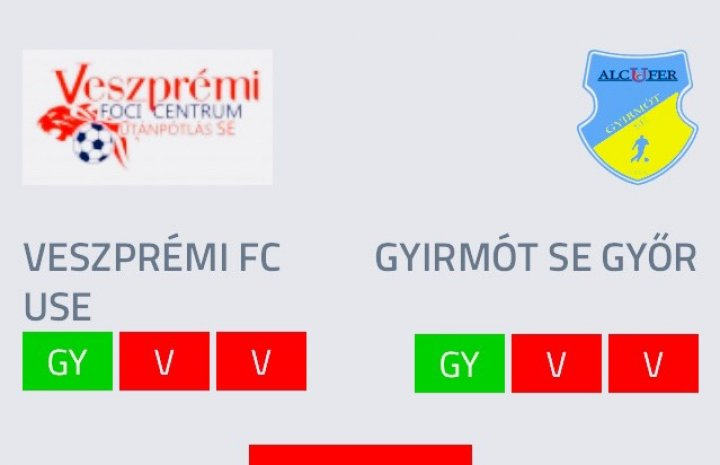 VFC USE U17 - Gyirmót 2:0 (0:0)
