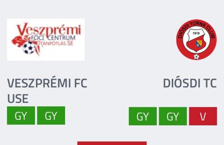 U19 VFC USE - Diósd 2-1 (1-0)