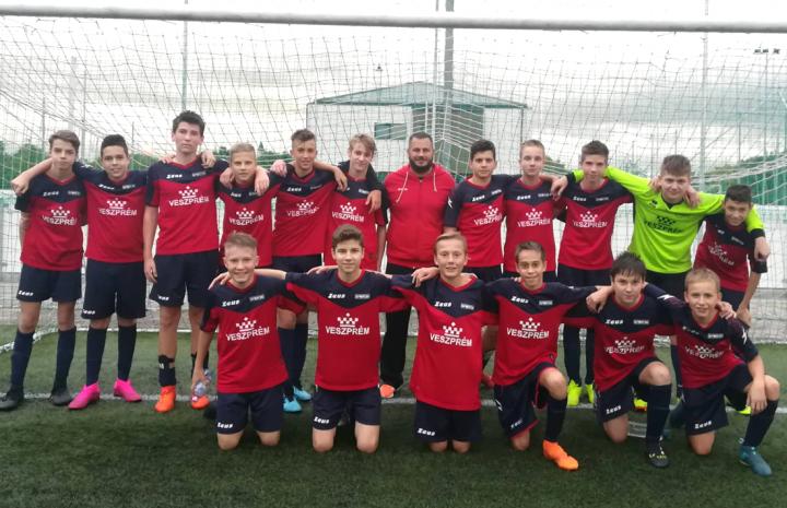 U16 Veszprém Megye Válogatottal mérkőztek meg azonos korú srácaink