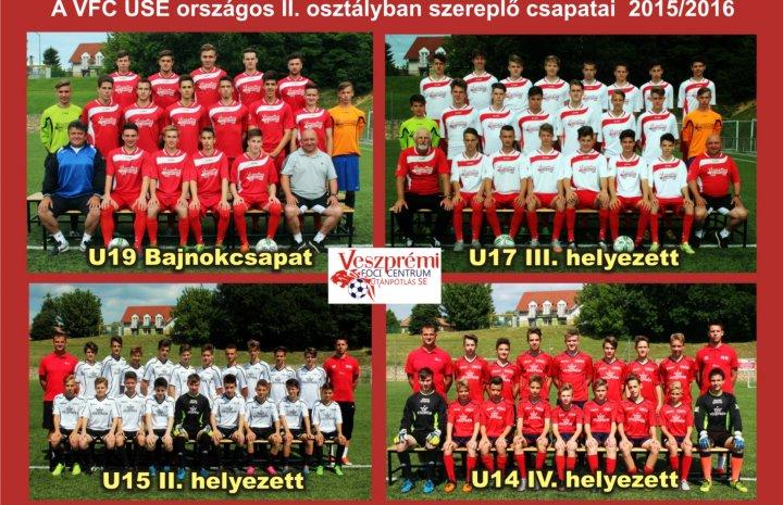 A VFC USE országos II. osztályban szereplő csapatai