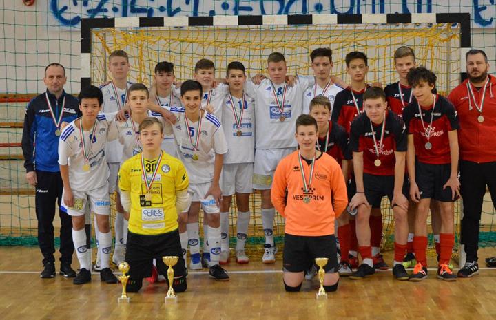 Második lett az U17 a megyei futsal kupán